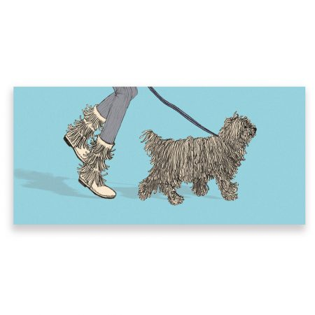Komondor dog greeting card