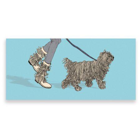 Komondor dog greeting card