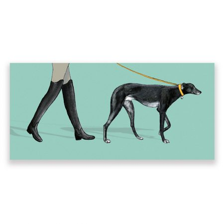 greyhound dog card