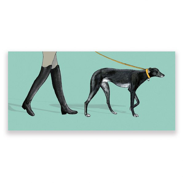 greyhound dog card