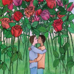 lgbt friendly products men kissing card