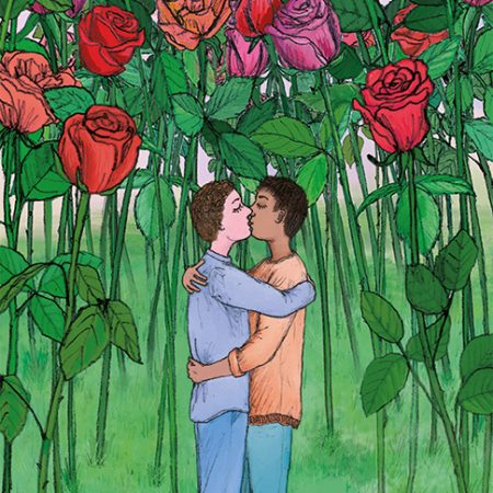 male lovers kissing gay card lgbt