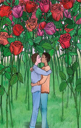 men love lgbt card illustration