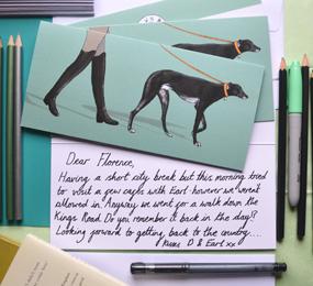 Greyhound Dog Card 285 x 260