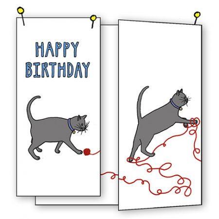 cat card happy birthday