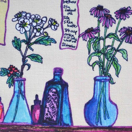 herbal medicine illustration