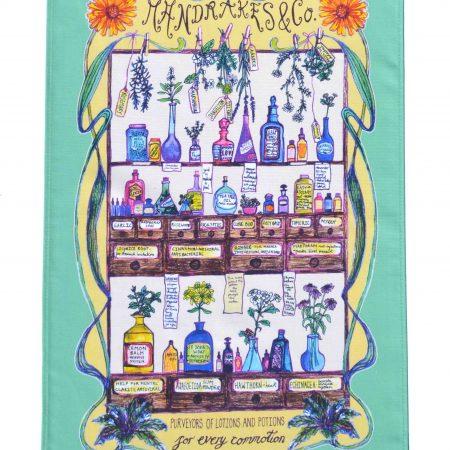 herbal medicine tea towel