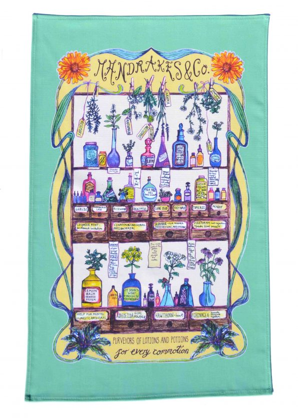 herbal medicine tea towel