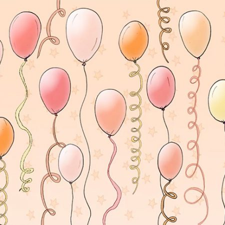 Orange Balloons Zoom Party Virtual Background