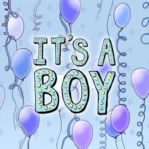 gender reveal it's a boy