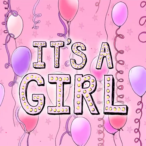 its a girl virtual gender reveal party