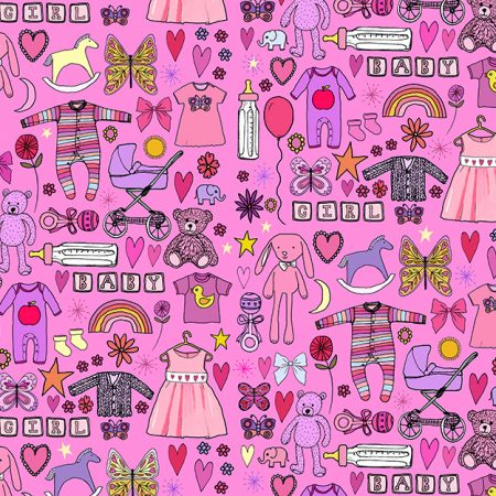 pink girls baby shower