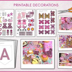 printable decorations girls baby shower