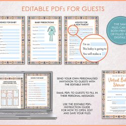 baby shower editable pdfs