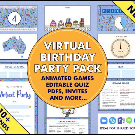 Virtual Birthday Party Pack
